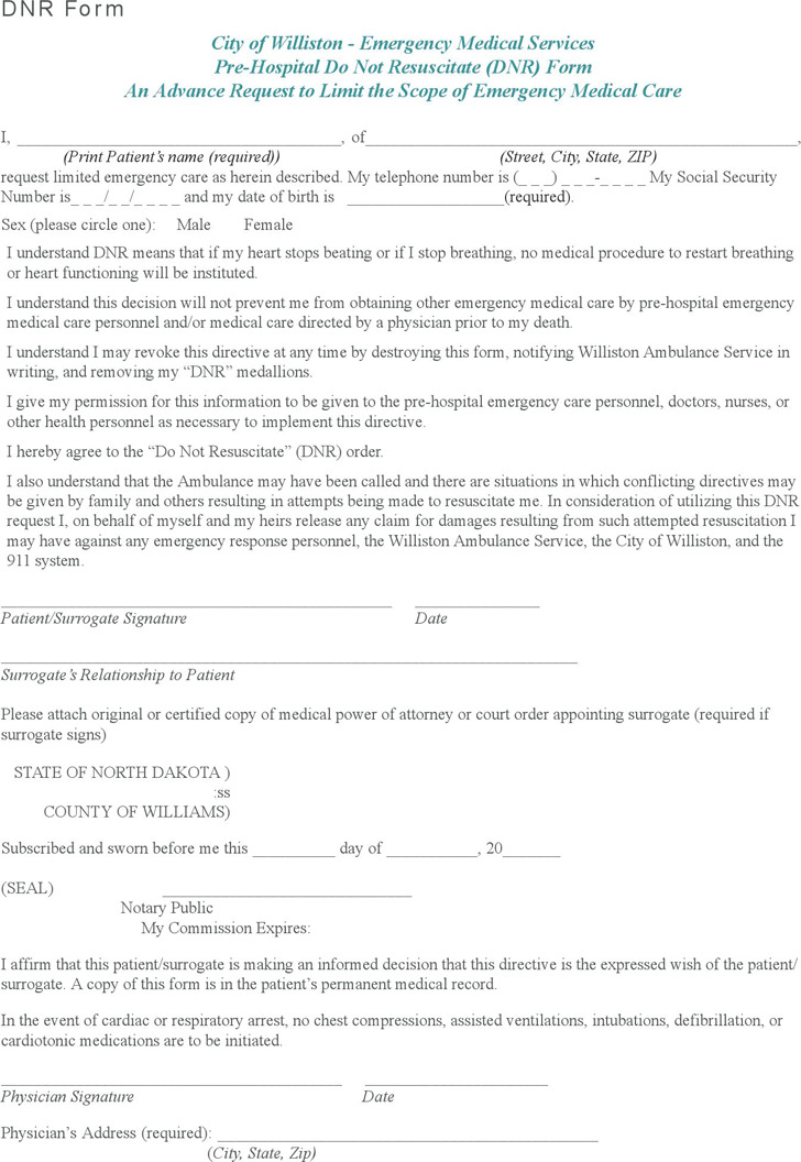 York Hospital Dnr Form