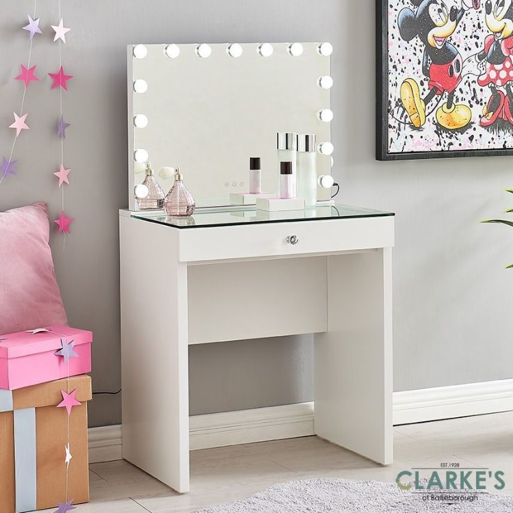 hollywood kids vanity table with mirror free nationwide delivery