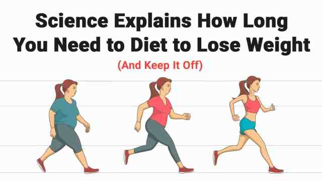 Science Explains How Long You Need to Diet to Lose Weight ...