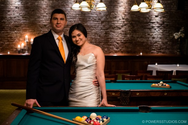 Superbowl Themed Wedding at Uptown Billiards in Portland Oregon.