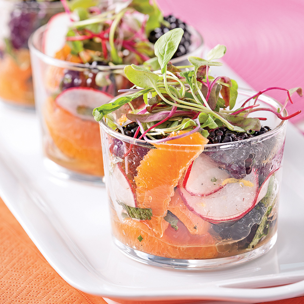 salade fraicheur en verrines