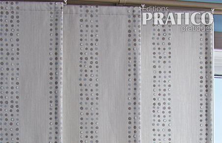 confectionner des panneaux de rideau