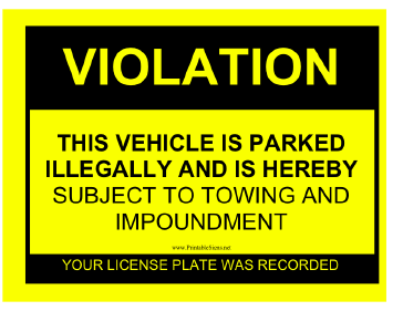 Terrible image with regard to printable parking tickets