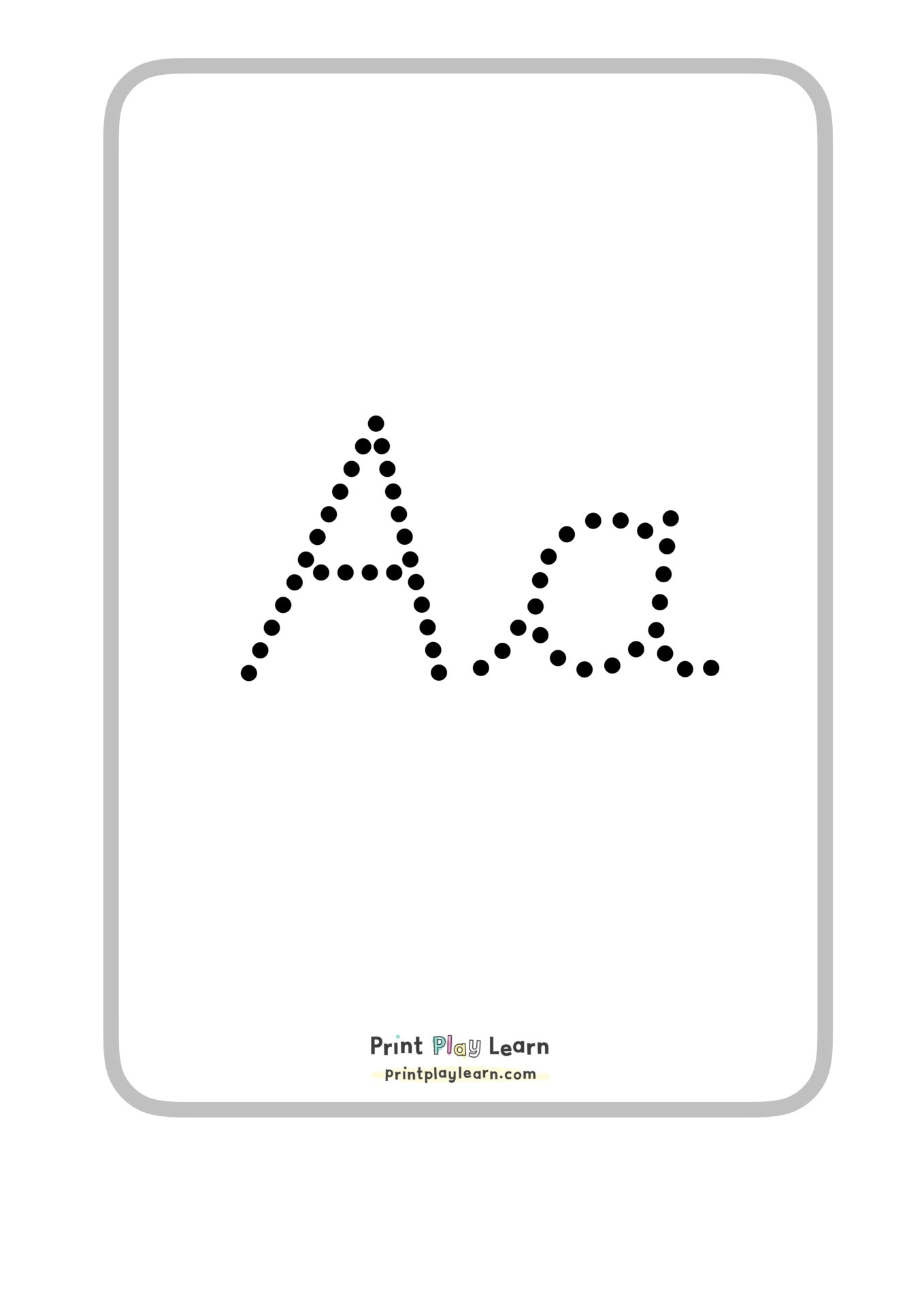 Dotted Tracing Alphabet Posters Or Flashcards