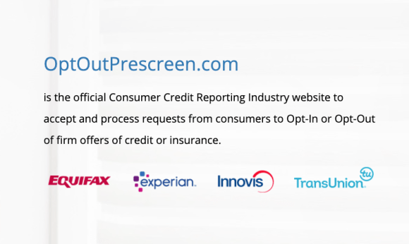 How to opt out of pre-approved credit