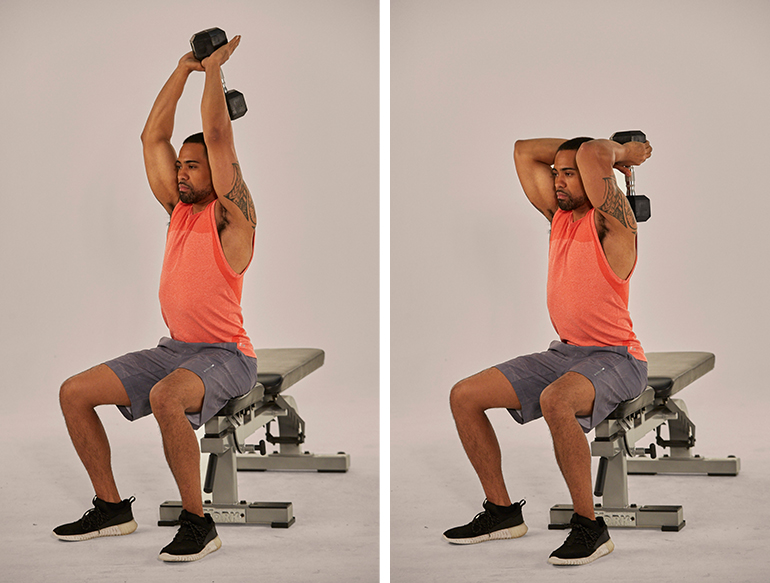 Overhead Tricep Extention for destroy underarm Fat