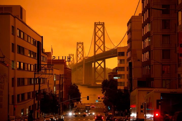 Apocalyptic Nightmare: San Francisco Forest Fire Skies