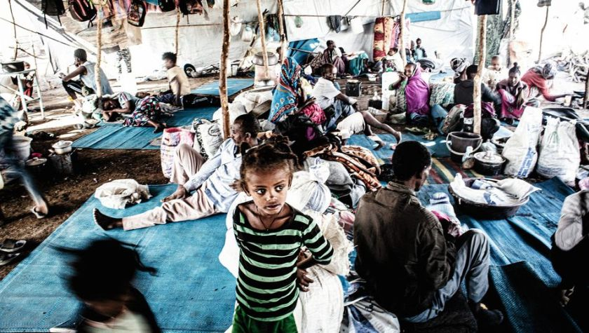 Refugees in Hamdayet: Driven from their homes