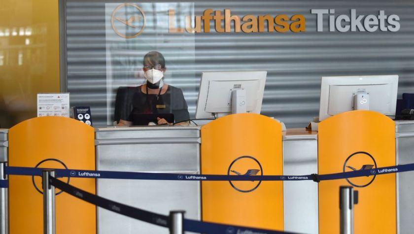 Lufthansa-Schalter in München