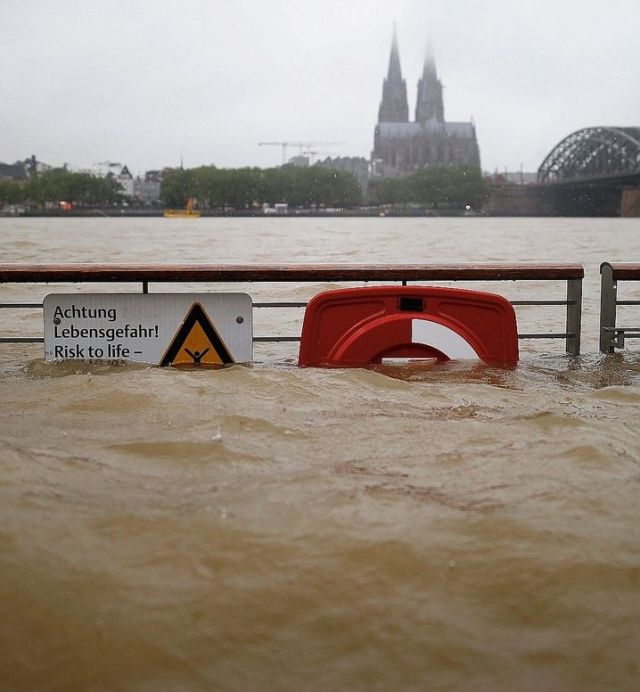 The Rhine River in Cologne