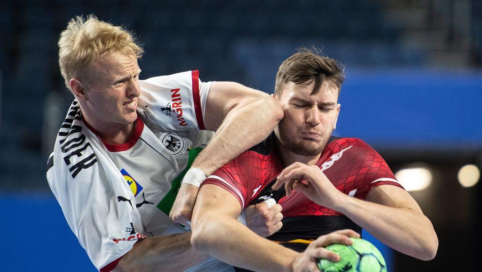 handball deutsche nationalmannschaft gewinnt deutlich gegen osterreich der spiegel