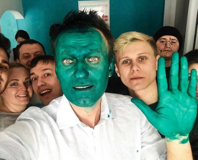 Navalny opened regional offices across Russia in 2017 for the presidential election campaign, in which he was ultimately not allowed to participate. Opponents sprayed him with bright green paint in an attack in Barnaul that year.