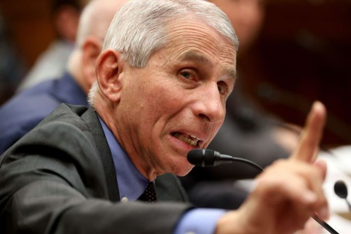 Anthony Fauci in front of the US House of Representatives