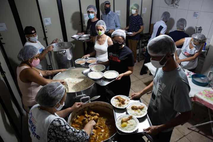 A soup kitchen for the needy in Sao Paulo.