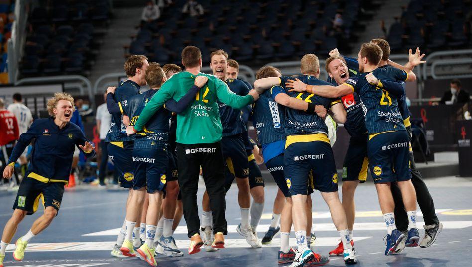 handball wm in agypten schweden gewinnt gegen frankreich der spiegel