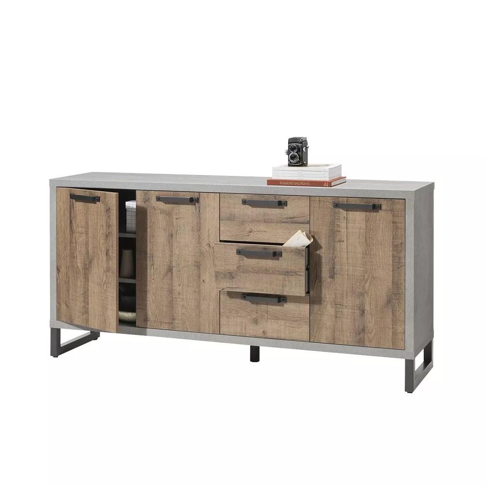 buffet en bois design industriel moderne pour cuisine houston