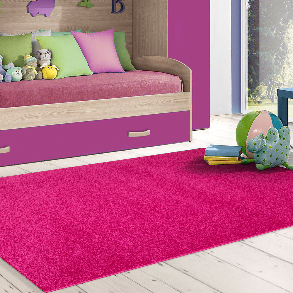 tapis fuchsia antistatique moderne 110x170cm salon salon casacolora ccfuc