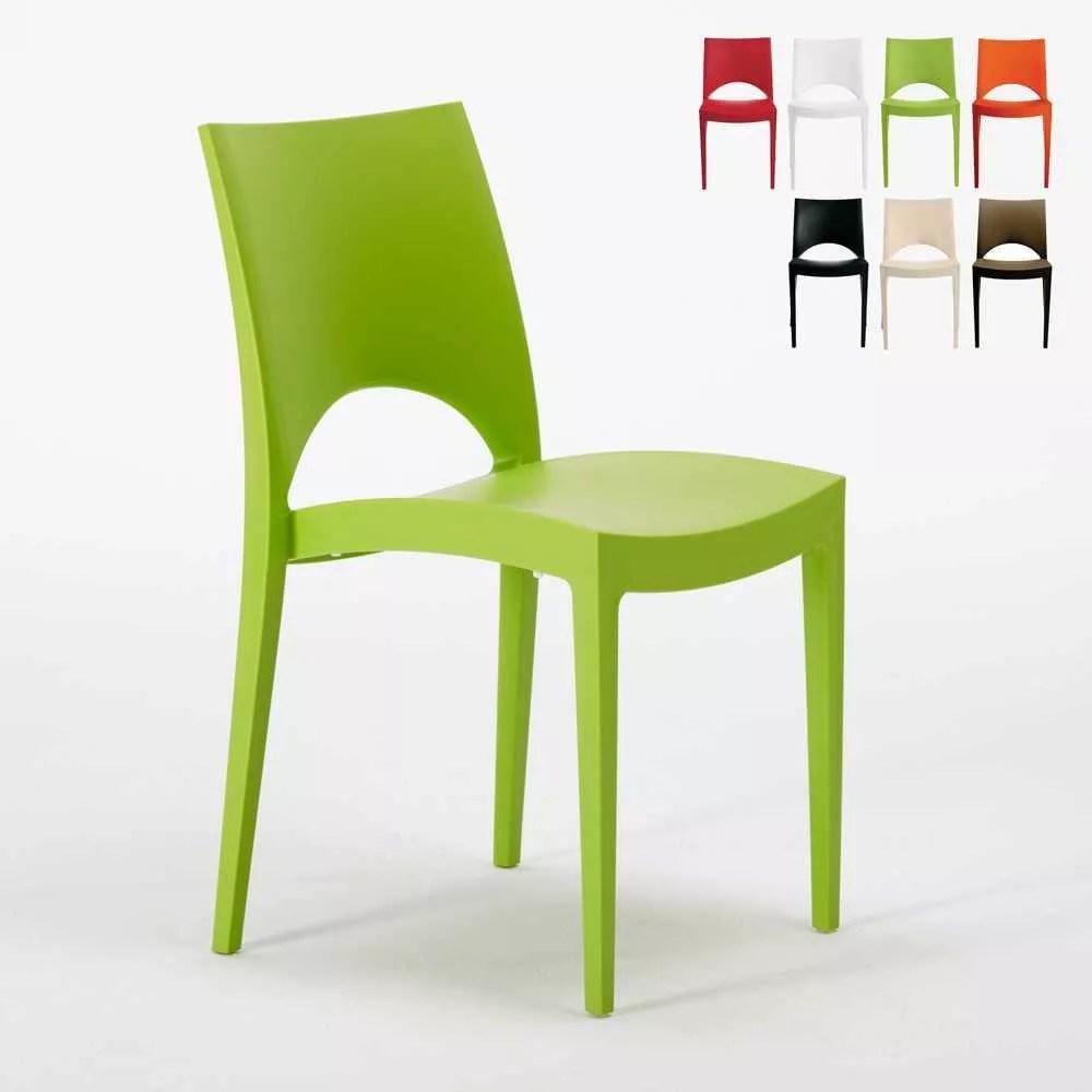 chaise en polypropylene empilable pour salle a manger maison cafe bar paris grand soleil