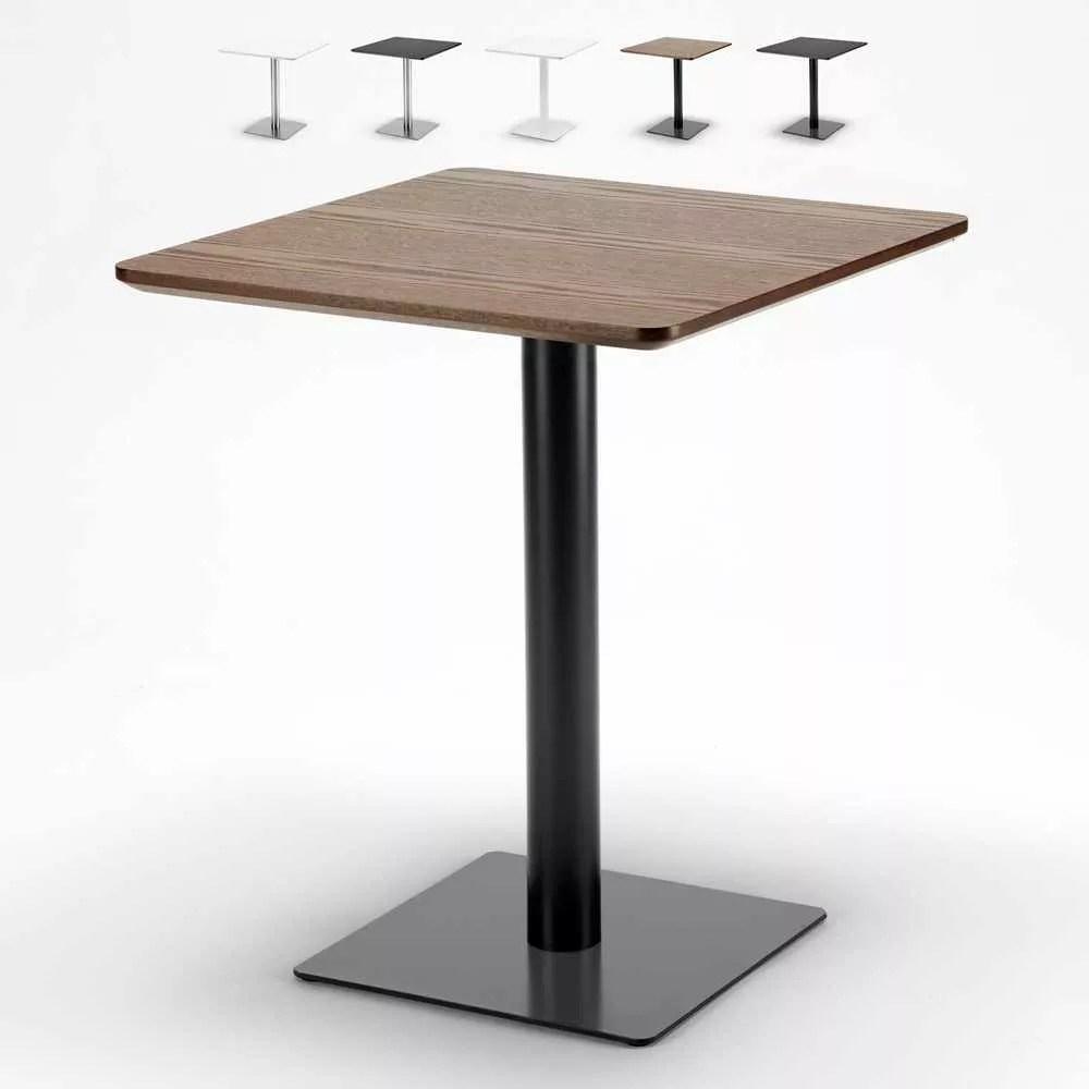 table 60x60 carree avec pied central pour bar bistrotsau design horeca