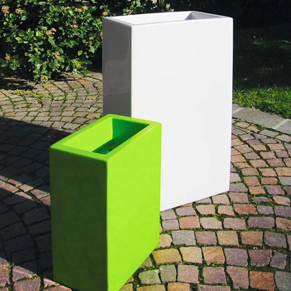 rechteckiger blumentopf im modernen design base pot 40 slide
