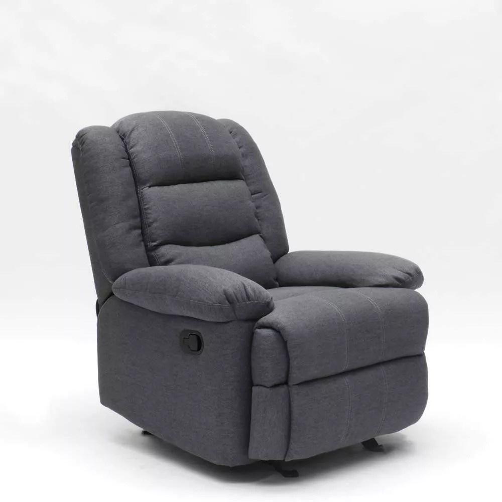 fauteuil a bascule inclinable avec repose pieds en tissu design sofia