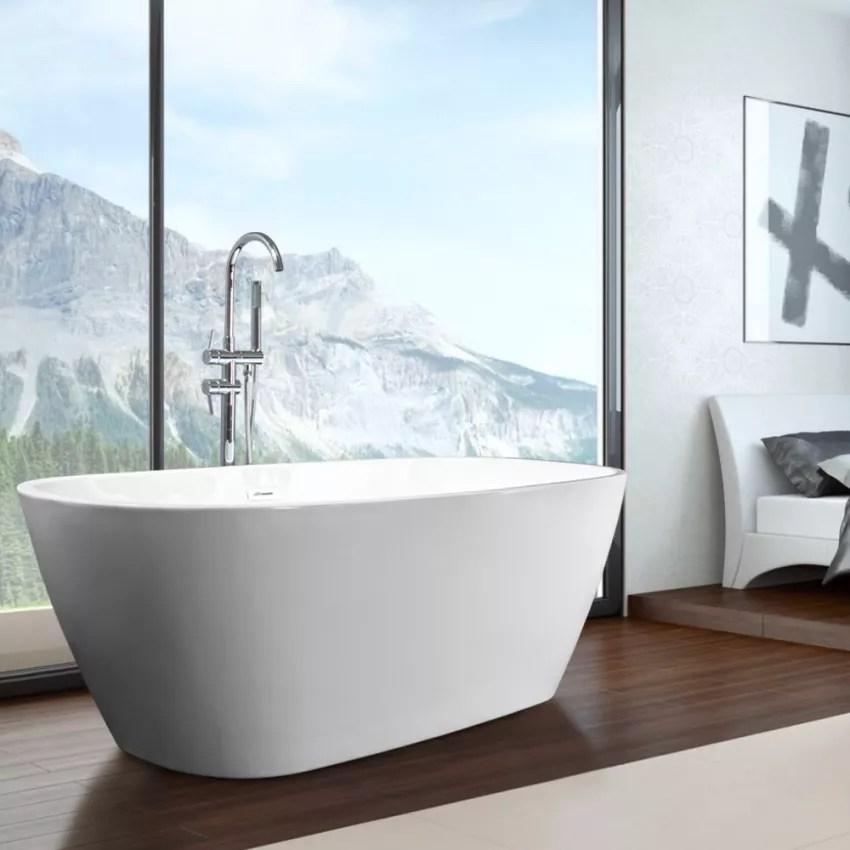 idra baignoire ovale autoportante style design moderne et independant