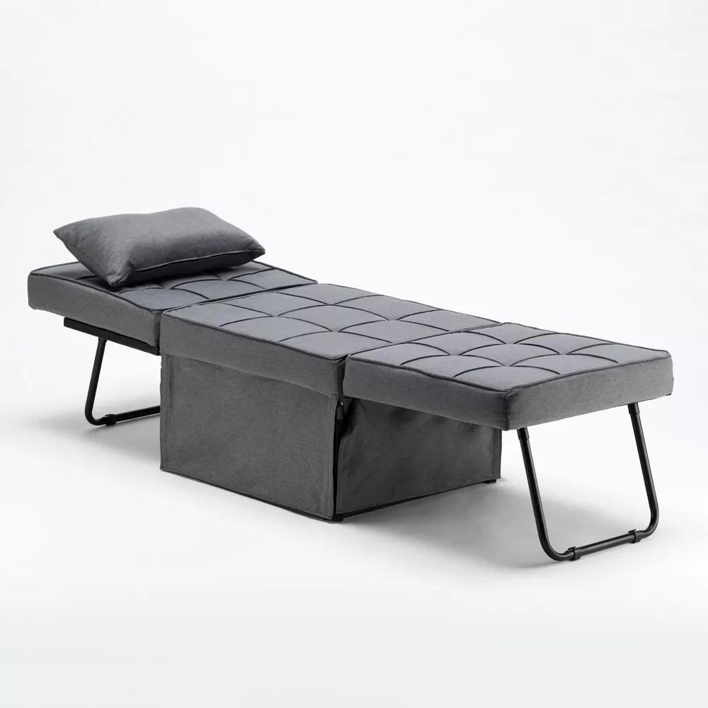 fauteuil lit pliable en tissu sweet relax