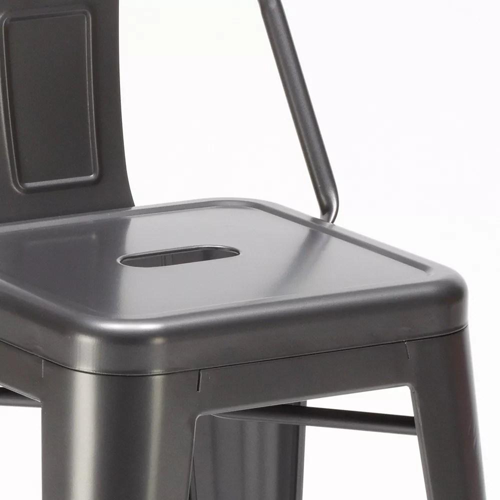 steel top tabouret industriel tolix dossier en metal au design moderne