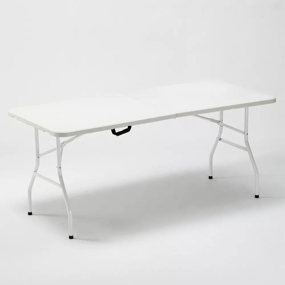 table pliante rectangulaire zugspitze 180x74 pour le jardin et camping