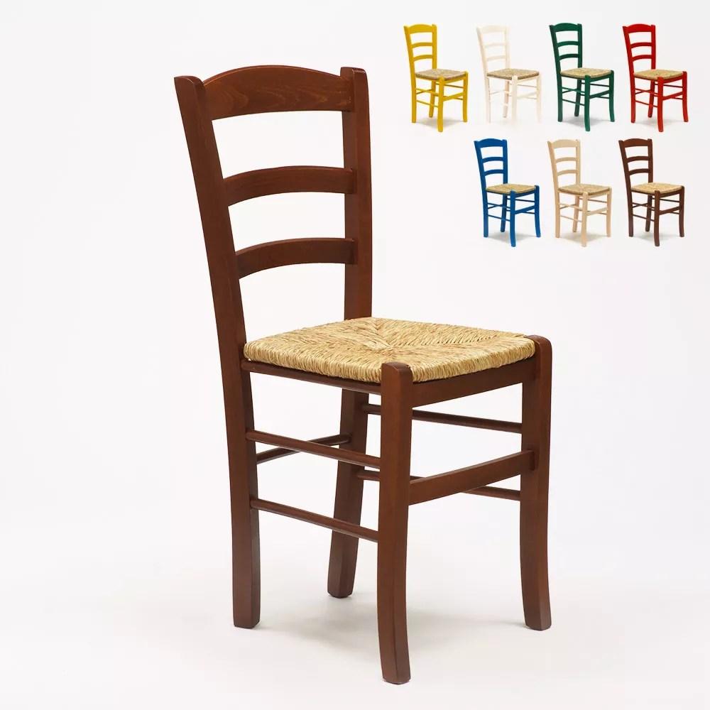 chaise en bois et assise en paille pour salle a manger bar et restaurant paesana