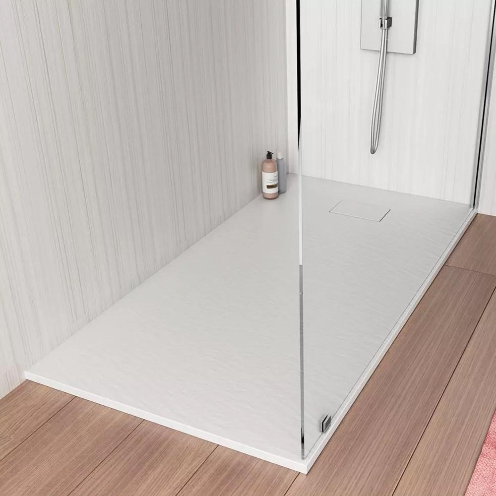 receveur de douche a l italienne rectangulaire en resine 120x70 stone