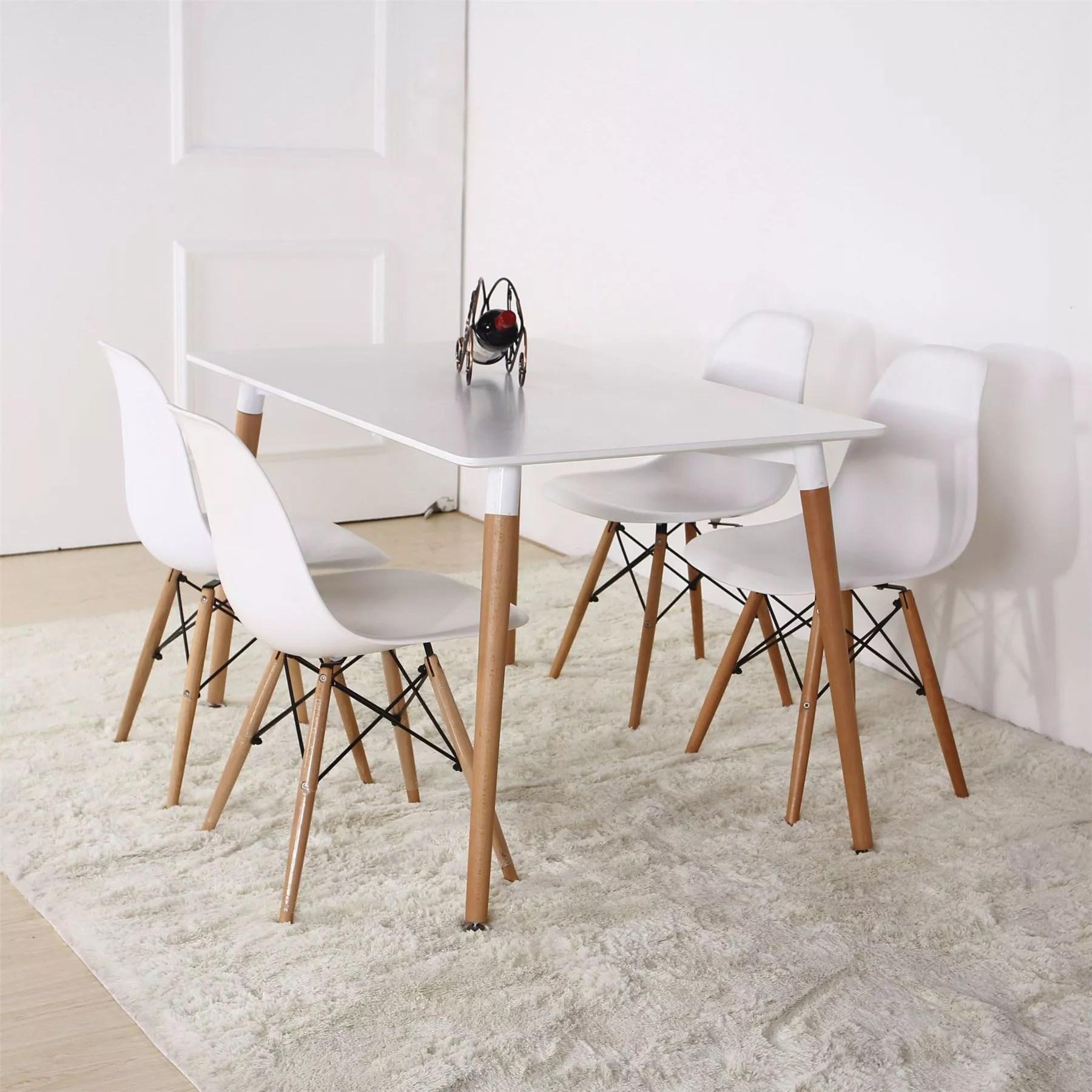 dsw eamess daw table carre en bois et polypropylene 80x80 pour bar cafe