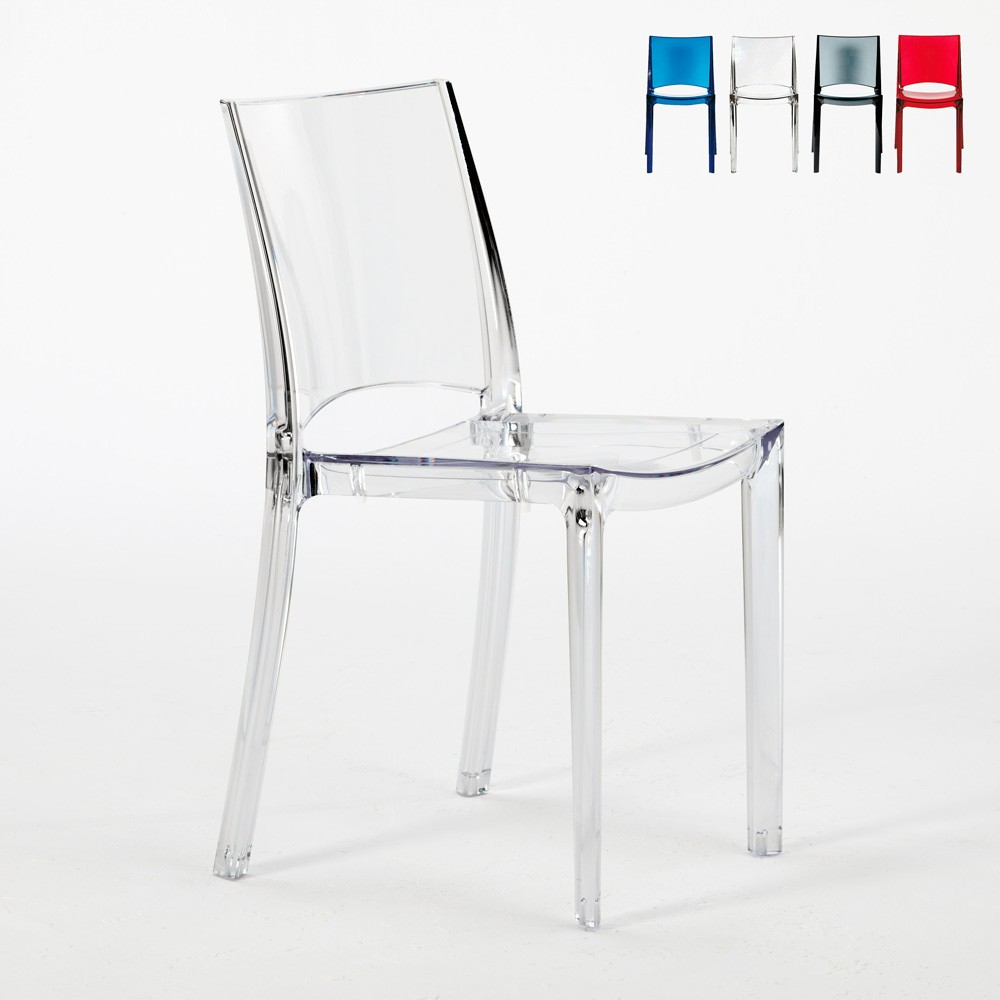 chaise transparente empilable salle a manger et cafe grand soleil b side