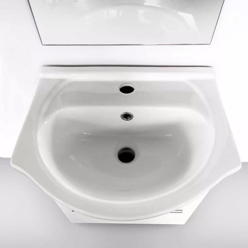 set decoration salle de bain avec miroir placard evier ceramique laquee