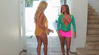 Naughty Kennedy and her step-mom in the pool Preview Image