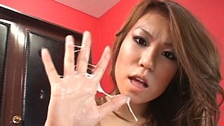 Natural titted Asian giving handjob Preview Image