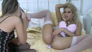 Long legged lesbians in classic lingerie. Feet_fetish Preview Image