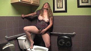 Jade's public toilet orgasm Preview Image