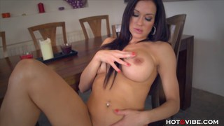 Big tits MILF_finger_fucks on table Preview Image