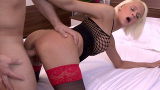 German bimbo fucking in the same bed as her friend Preview Image
