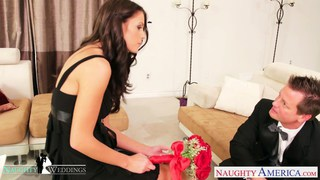 Busty brunette Whitney_Westgate riding cock at_wed Preview Image