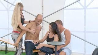 shameless shenanigans Mobile video ◦ Party tent shenanigans: part 1 dorinna gets naked Preview Image