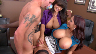 Two busty moms Ava Addams and Lisa Ann having office sex Preview Image
