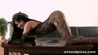 Super hot lady peeing through her pantyhose Preview Image