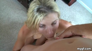 Blonde girl gets fucked and creamed by her BF Preview Image