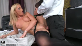 Kathia Nobili in stockings is giving deepthroat Preview Image