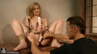 Safira White is masturbating while being tied up Preview Image