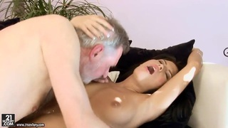 Hot ass babe Amabella pleasures filthy grandpa Preview Image