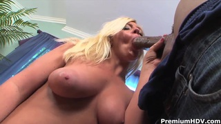 Big ass blonde Alex Love rides on fat black cock Preview Image