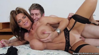 Large tit MILF Deauxma in black stockings fucking Preview Image